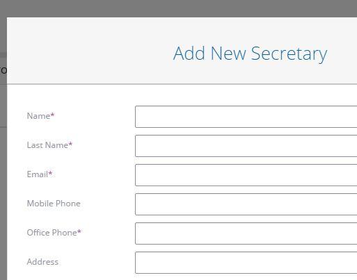 Add Secretary