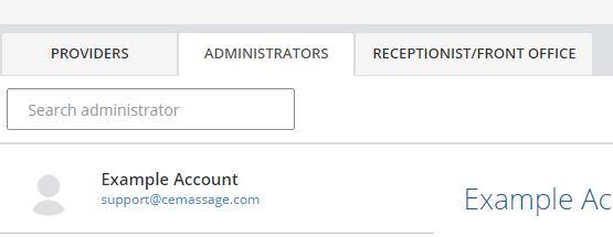 Add Staff / Providers / Admins