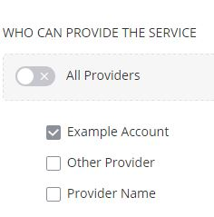 Services by Provider
